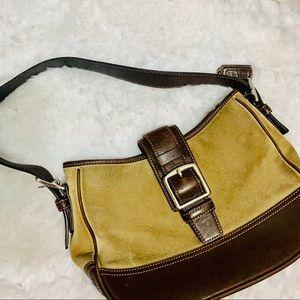 {COACH} Brown Suede Hampton Bag